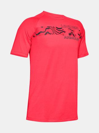 Růžové pánské tričko Tech Under Armour