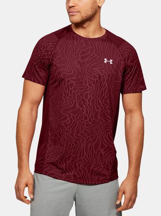 Vínové pánské tričko MK1 Jacquard Under Armour