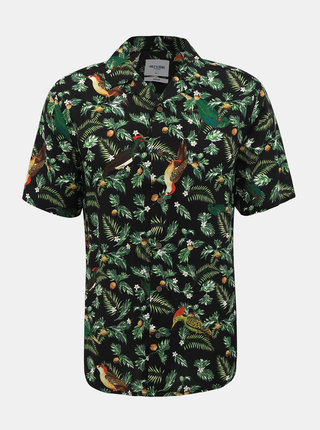 Černá vzorovaná regular fit košile ONLY & SONS Allan