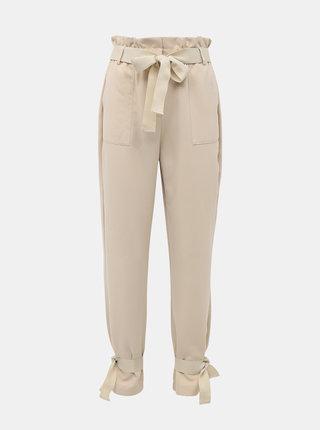 Béžové nohavice AWARE by VERO MODA Kaisa