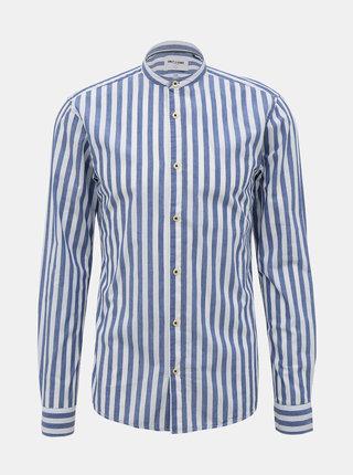 Modrá-bílá pruhovaná slim fit košile ONLY & SONS Mattew