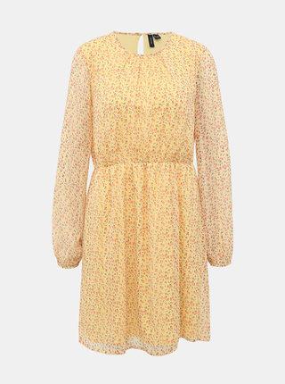 Žlté kvetované šaty VERO MODA Molly