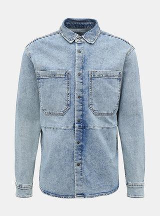 Modrá rifľová košeľa ONLY & SONS Jasper