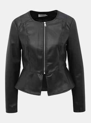 Čierna koženková bunda ONLY Josie
