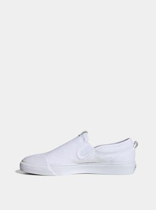Biele pánske slip on adidas Originals Nizza
