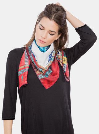 Červeno-bílý dámský vzorovaný šátek Versace 19.69