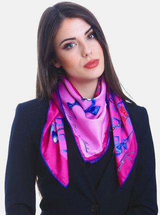Fialovo-růžový dámský vzorovaný šátek Versace 19.69