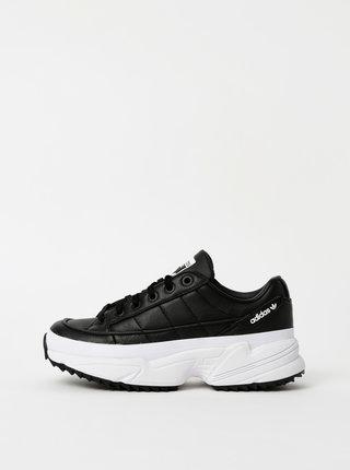 Čierne dámske kožené tenisky na platforme adidas Originals