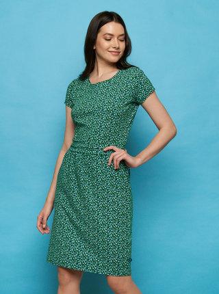 Tmavozelené vzorované šaty Tranquillo Loretta