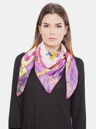 Růžovo-fialový dámský vzorovaný šátek Versace 19.69
