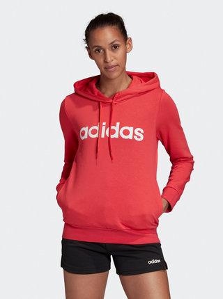 Červená dámská mikina adidas CORE