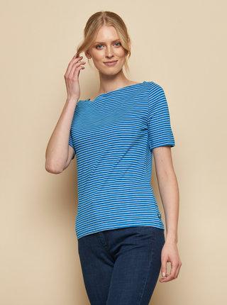 Modré pruhované tričko Tranquillo Aja