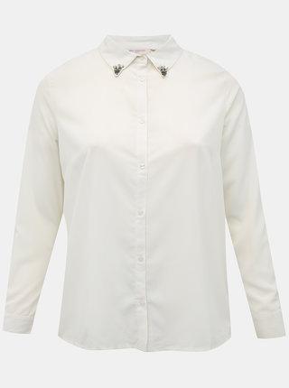 Biela košeľa ONLY CARMAKOMA Perma