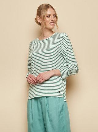 Zeleno-bílé pruhované tričko Tranquillo Uma