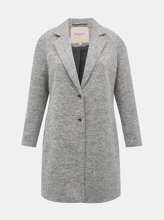 Šedý kabát ONLY CARMAKOMA Carrie