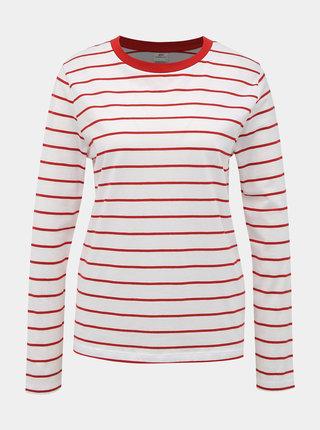 Biele pruhované basic tričko Jacqueline de Yong Best Life