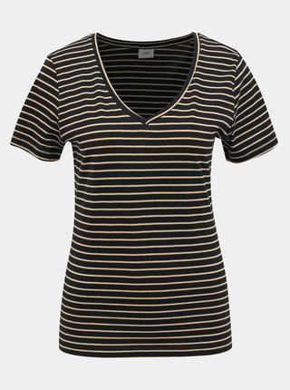 Černé pruhované basic tričko Jacqueline de Yong Best Live