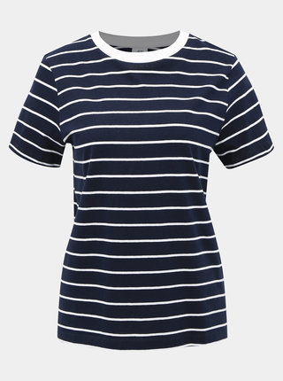 Tmavě modré pruhované basic tričko Jacqueline de Yong Best Life