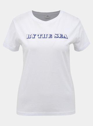 Biele tričko Jacqueline de Yong Happy Live
