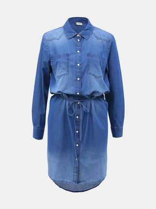 Modré rifľové košeľové šaty Jacqueline de Yong Bill