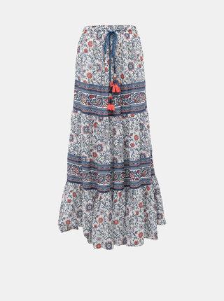 Modrá vzorovaná maxi sukňa Pepe Jeans Ras