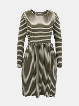 Khaki pruhované šaty Jacqueline de Yong Best Live