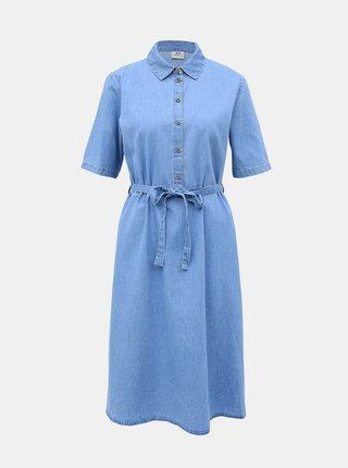 Světle modré džínové košilové šaty Jacqueline de Yong Roger