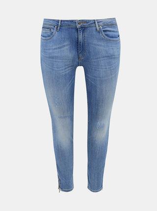Modré skinny fit džíny ONLY CARMAKOMA Karla