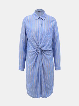 Modré pruhované košilové šaty Jacqueline de Yong Alex