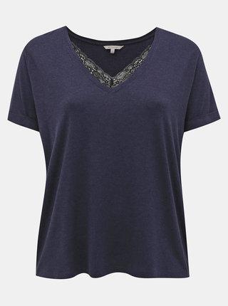 Tmavomodré tričko ONLY CARMAKOMA Carma