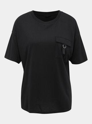 Čierne tričko s vreckom M&Co