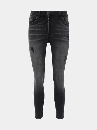 Tmavě šedé zkrácené skinny fit džíny M&Co Petite