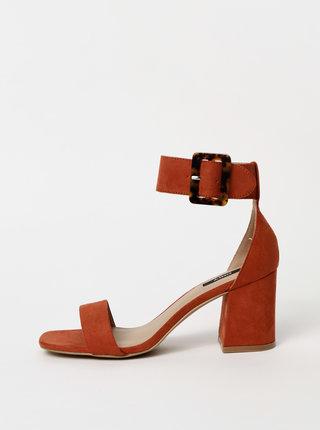 Cihlové sandály v semišové úprávě ONLY Amanda