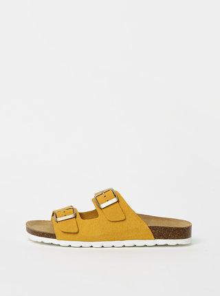 Hořčicové semišové pantofle ONLY Madison