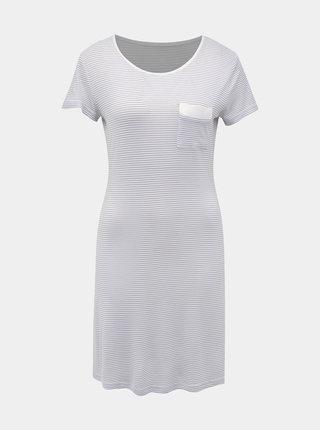 Šedo-biela pruhovaná nočná košeľa M&Co