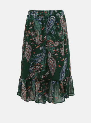Tmavozelená vzorovaná sukňa Jacqueline de Yong Rufus