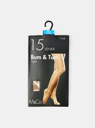Tělové punčochové kalhoty M&Co 15 DEN