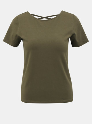 Khaki tričko ONLY Mathilde