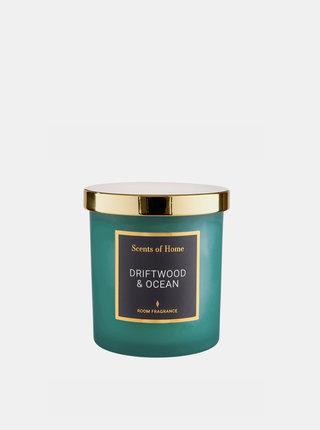 Modrá svíčka s vůní dřeva a oceánu BUTLERS