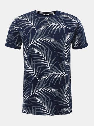 Tmavě modré vzorované tričko ONLY & SONS Iason