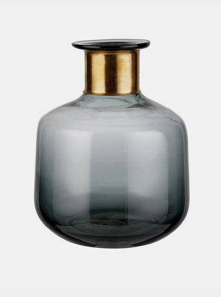 Šedá skleněná váza BUTLERS