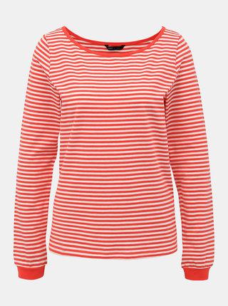 Bielo-červené pruhované basic tričko ONLY Aba