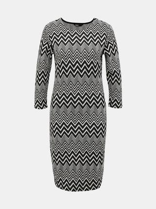 Bielo-čierne vzorované šaty ONLY Vigga