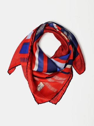 Modro-červený dámský vzorovaný šátek Versace 19.69