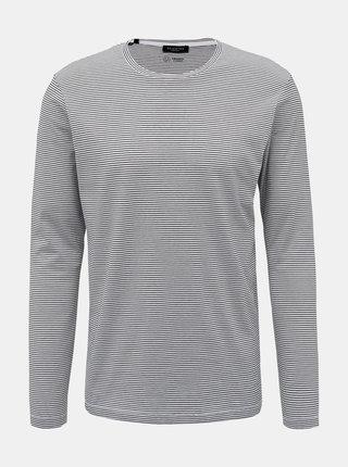Bílé pruhované basic tričko Selected Homme Loui