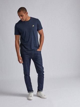 Tmavě modré tričko s výšivkou Burton Menswear London