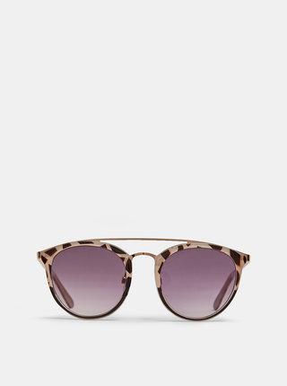 Béžové vzorované sluneční brýle Dorothy Perkins