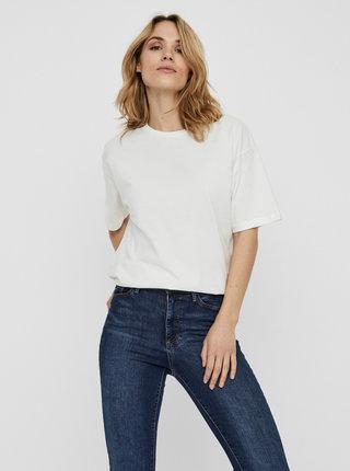 Bílé tričko s potiskem AWARE by VERO MODA Kerry