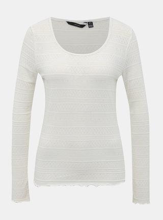 Biele vzorované tričko VERO MODA Hazel