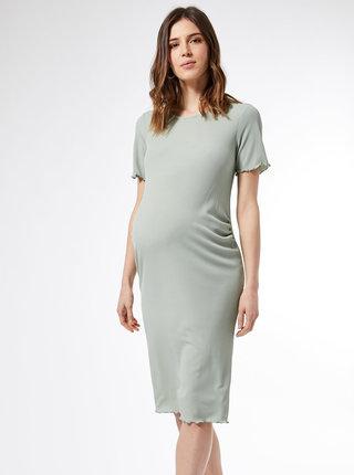 Světle zelené těhotenské šaty Dorothy Perkins Maternity